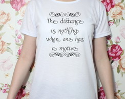 Camiseta Distance baby look (TAM. M)