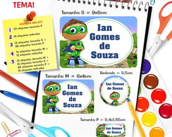 Etiqueta Escolar - Super Why