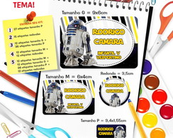 Etiqueta Escolar - Star Wars