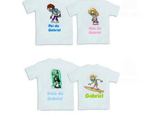 Kit 4 Camisetas Plants Vs Zombies