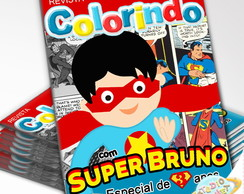 Revista de colorir Super Man