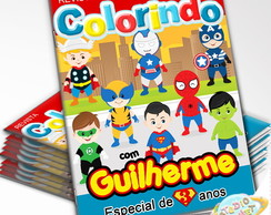Revista de colorir Super Heróis