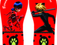 chinelos lady bug cat noir