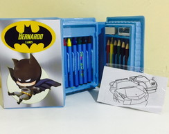 estojo de pintura batman