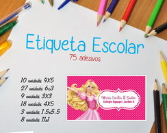 ETIQUETA ESCOLAR BARBIE