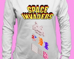 CamisetaSpace Invaders Canoa Longa 1
