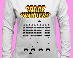 CamisetaSpace Invaders Canoa Longa 3