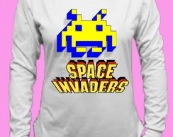 CamisetaSpace Invaders Canoa Longa 5