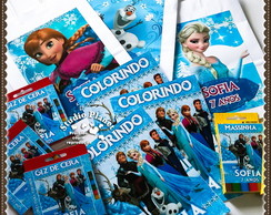 kit colorir Frozen c/Giz,Massinha,Sacola