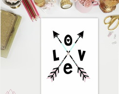 Poster A4 Love Arrows P079