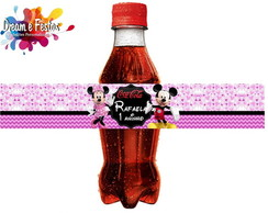 Rótulo Mini Coca-Cola Minnie Rosa