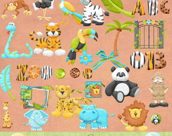 Kit digital Safari - Scrapbook+brinde