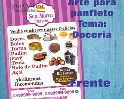 Arte Digital Panfleto Flyer Doceria