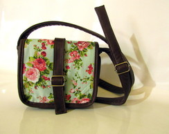 Bolsa Tiracolo Floral Pink and Green