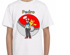 Camiseta Estampa Personalizada Pokemon
