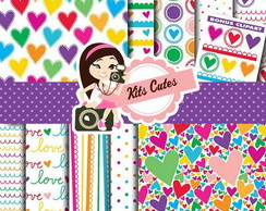 Kit Digital Papéis Amor 02