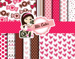 Kit Digital Papéis Amor 03