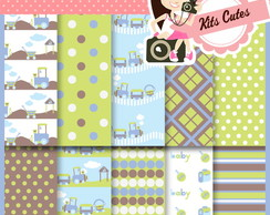 Kit Digital Papéis Baby 02