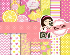 Kit Digital Papéis Frutas 02