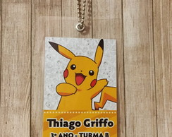 Kit 2 Tags para Mochila Pokemon