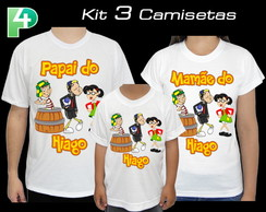 Kit 3 Camisetas Chaves Personalizada 1