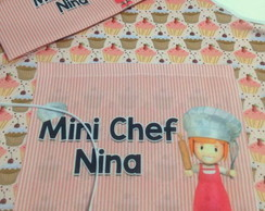 Kit Mini Chef avental chapéu