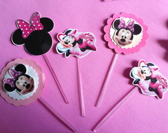 TOPPER P/ DOCES MINIE ROSA