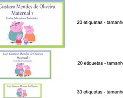 Kit Etiqueta Escolar - Peppa Pig 2
