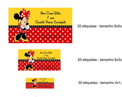 Kit Etiqueta Escolar - Minnie Vermelha 2
