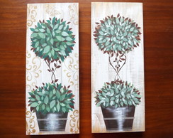 Pallet Decorado - Dupla Topiaria