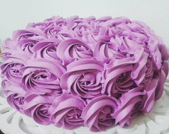 Bolo Decorado Chantilly Rosas