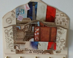 PORTA CHAVES E CARTAS PARIS