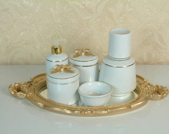 Kit Higiene Porcelana Filetado Laço