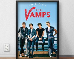 "Quadro Decorativo ""The Vamps"" com moldura e vidro"