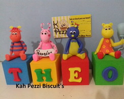 Cubos backyardigans de biscuit