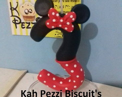 vela do mickey ou minie em biscuit