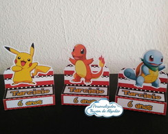 porta chocolate duplo Pokemon + TEMAS