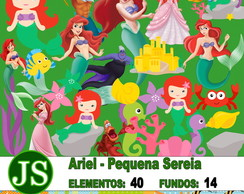 Kit Digital Scrapbook Ariel - Pequena Se