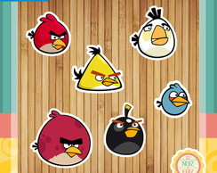 Apliques Angry Bird