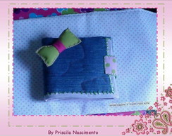 CARTEIRA LAÇO PATCH E QUILTING
