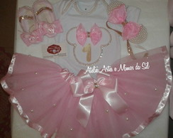kit saia tutu festa minnie rosa