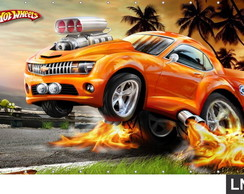 Painel Hot Wheels 2,50x1,20m