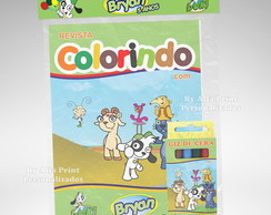 Kit Colorir Doki + Brindes