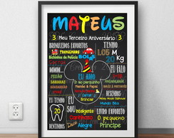 Quadro Chalkboard Mickey Digital