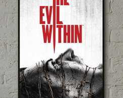 Pôster The Evil Within A3 com moldura