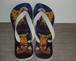 Chinelo Personalizado Pokemon