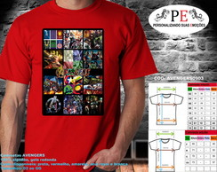 Camisetas Avengers Faces