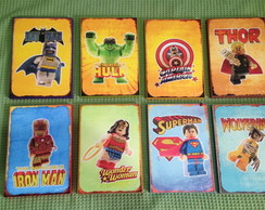 8 Posters Lego Marvel herois
