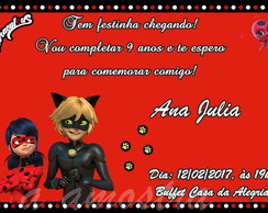 Convite Digital Aniversario Lady bug