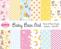 Kit Papel Digital - Baby Bear Girl